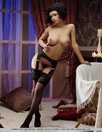Pammie is your perfect budoir doll with voluptuous body blessed with large, perky breasts, slim waist and sexy feet as she poses erotically in her bla