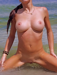 """With her gorgeous wet body, Angeli dips on the river and flaunts her best asset throughout the series."""