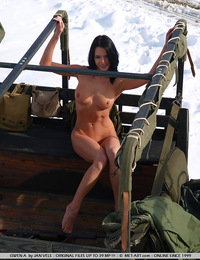 Cold war has a new hot sexy Russian naked girl weapon that plays in the snow and is dangerous. - Gwen A - Peace